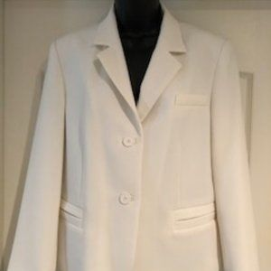 Judith & Charles Lined 2 Button Jacket Creme Sz 10